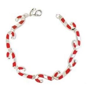NWT Avon Candy Cane Confection Collection Bracelet